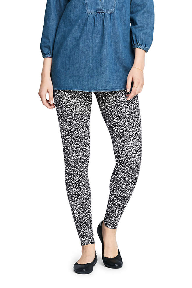 Women's Petite Starfish Mid Rise Knit Leggings, Front