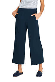 Women's Petite Crepe Pull On Crop Pants