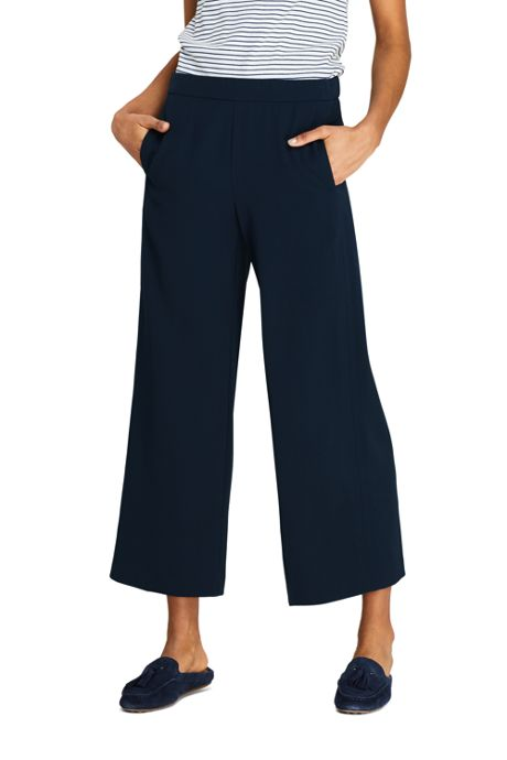 Women's Crepe Pull On Crop Pants