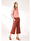 Chino Large Stretch 7/8 Taille Mi-Haute, Femme Stature Standard