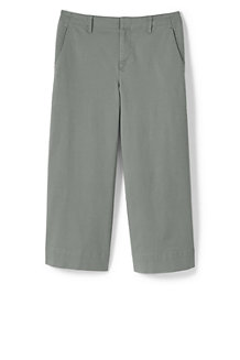 Chino Large Stretch 7/8 Taille Mi-Haute, Femme