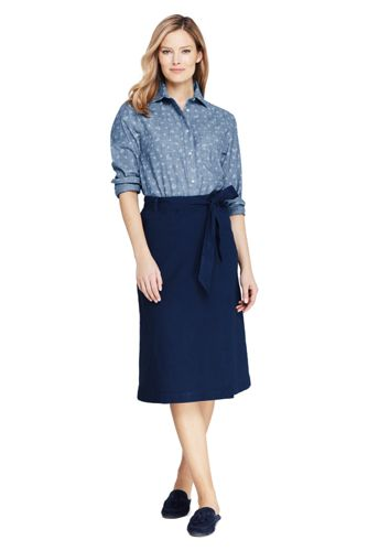 Women's Stretch Linen Mix Skirt