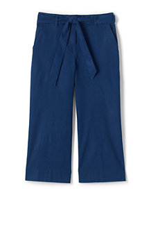 65bb5ff07533 Women's Tie Waist Stretch Linen Mix Crop Trousers
