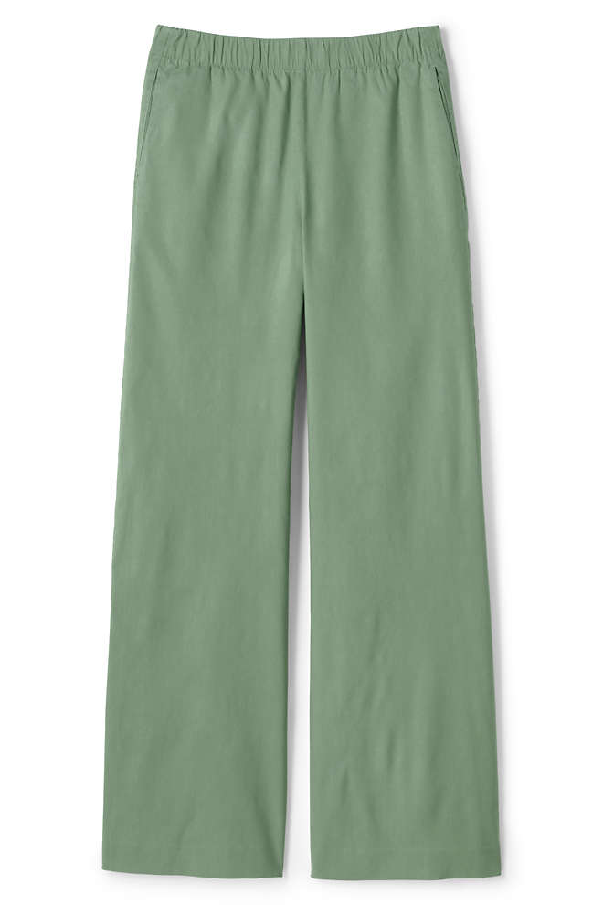Women's Wide Leg Linen Blend Pants, Front