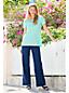 Pantalon Large en Lin Mélangé Stretch, Femme Stature Standard