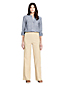 Women's Wide Leg Stretch Linen Mix Trousers