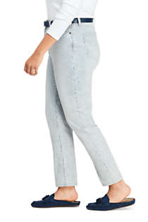 Women's Plus Size High Rise Slim Straight Leg Ankle Jeans - Stripe, alternative image