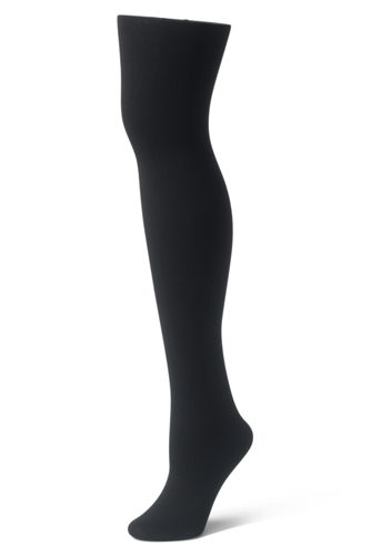 Women's Fleece Lined Tights by Lands' End