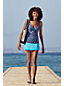 Tankini Beach Living Croisé à Fronces et Motifs, Femme Stature Standard