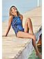 Bas de Bikini Beach Living à Motifs Taille Haute, Femme Stature Standard