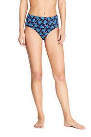 Women's Chlorine Resistant High Waisted Bikini Bottoms Print