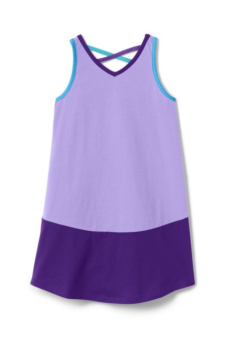 Girls Plus Lattice Back Tank Dress