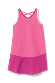 Little Girls Lattice Back Tank Dress