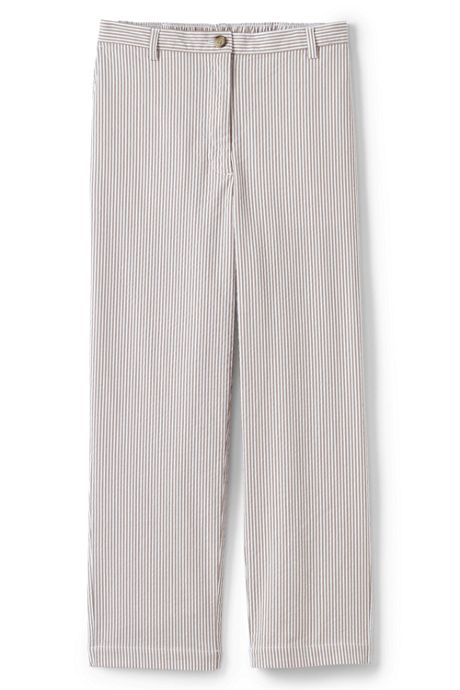 Women's 7 Day Elastic Back Capri Pants - Stripe