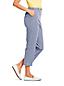 Pantacourt Rayé en Coton Stretch, Femme Stature Standard