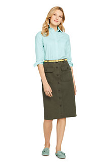 Women's Button Front Skirt