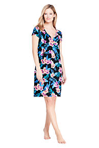 f7d203d4bde95 Women s Swim Cover-up Notch Neck Dress with UV Protection Print