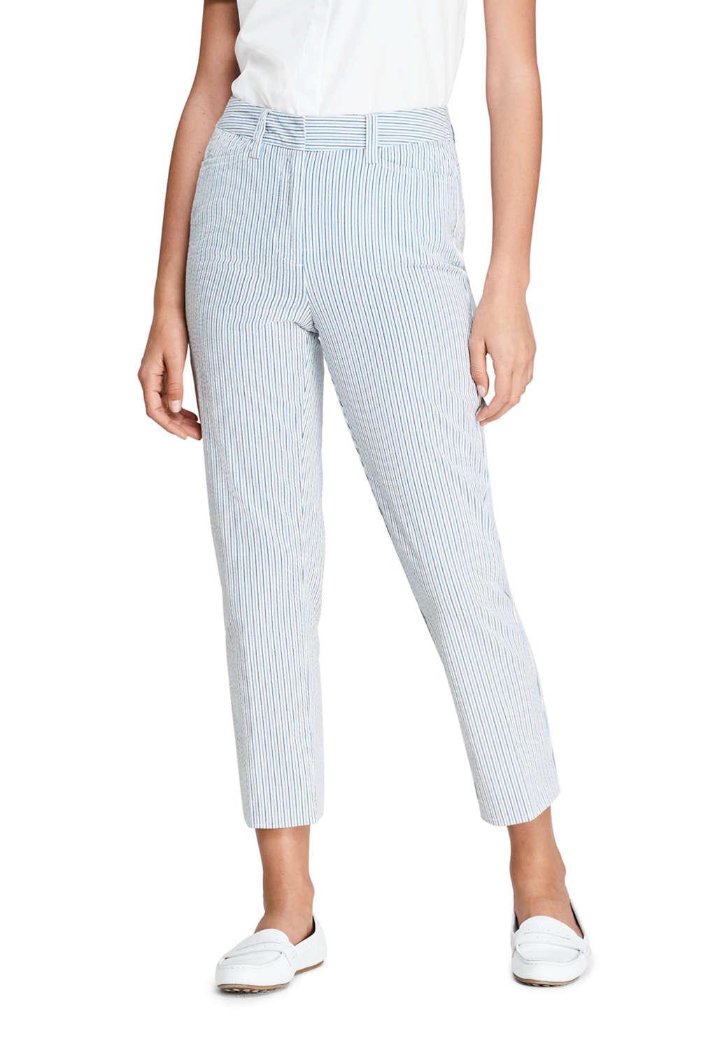 1c56da0335 Women's Mid Rise Seersucker Capri Pants