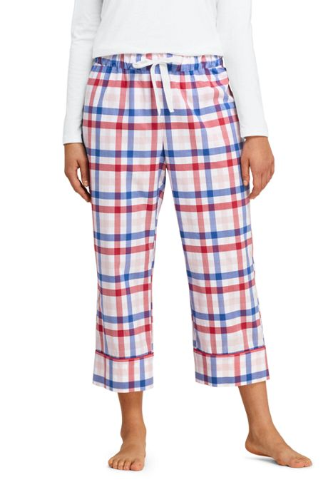 Women's Plus Size Crop Cotton Sleep Pants