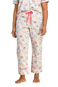 Women's Plus Size Crop Cotton Pajama Pants