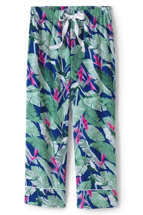 Women's Petite Crop Cotton Pajama Pants
