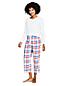 Gemusterte Pyjamahose in 7/8-Länge für Damen in Plus-Größe