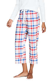 Women's Petite Crop Cotton Sleep Pants
