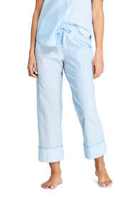 Women's Crop Cotton Pajama Pants