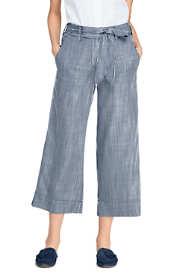 Women's Tie Waist Capri Pants