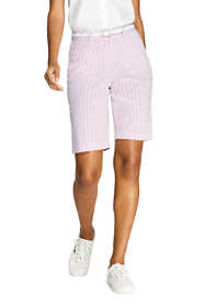 "Women's 10"" Mid Rise Seersucker Shorts"