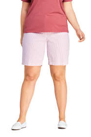 "Women's Plus Size 10"" Mid Rise Seersucker Shorts"