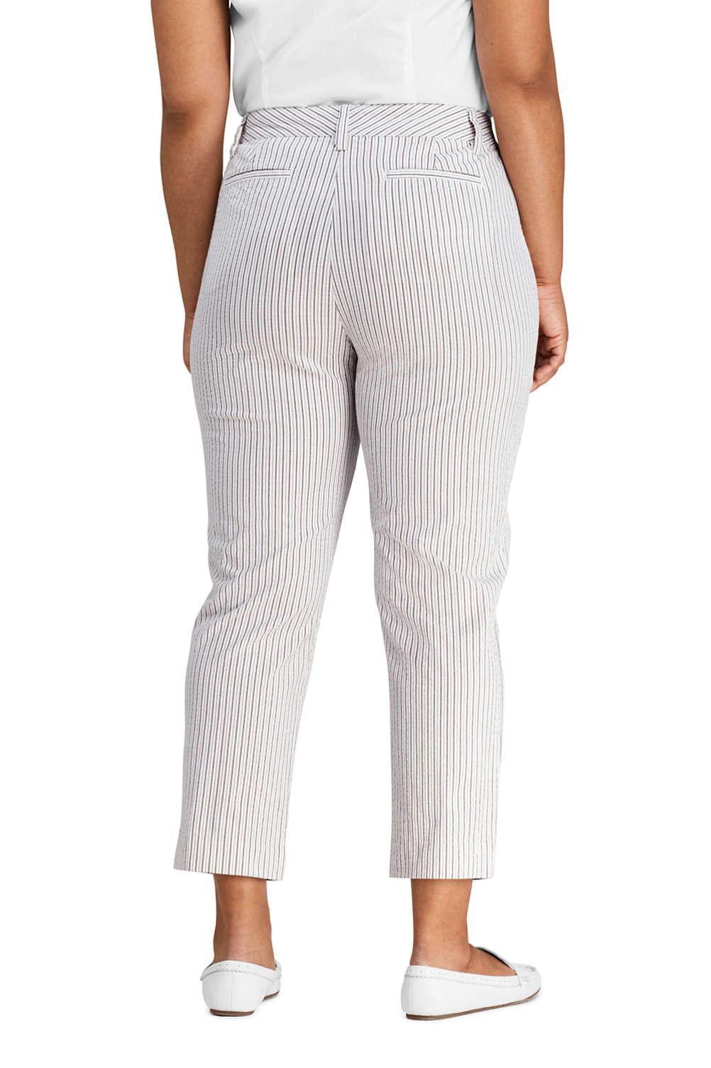 32d05c30941 Women s Plus Size Mid Rise Seersucker Capri Pants. Item  508240AH0. View  Fullscreen