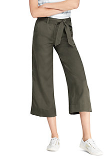 Women's High Waisted Soft Cropped Trousers