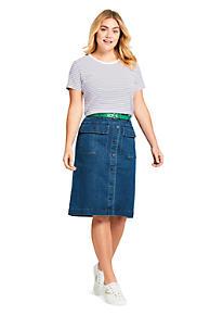 360433670b953 Women s Plus Size Button Front Denim Skirt