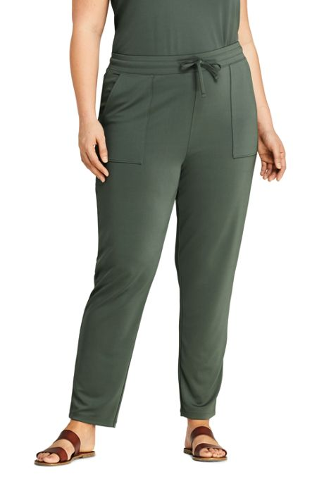 Women's Plus Size Matte Jersey Drawstring Jogger Pants