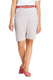 """Women's Plus Size 7 Day 10"""" Shorts - Stripe"""