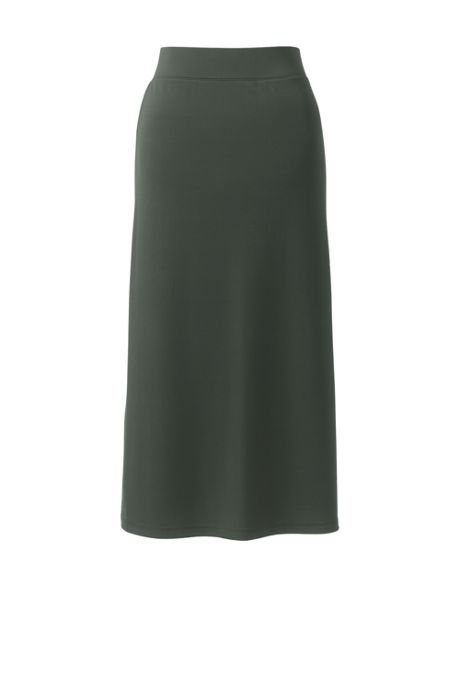 Women's Plus Size Matte Jersey Midi Skirt