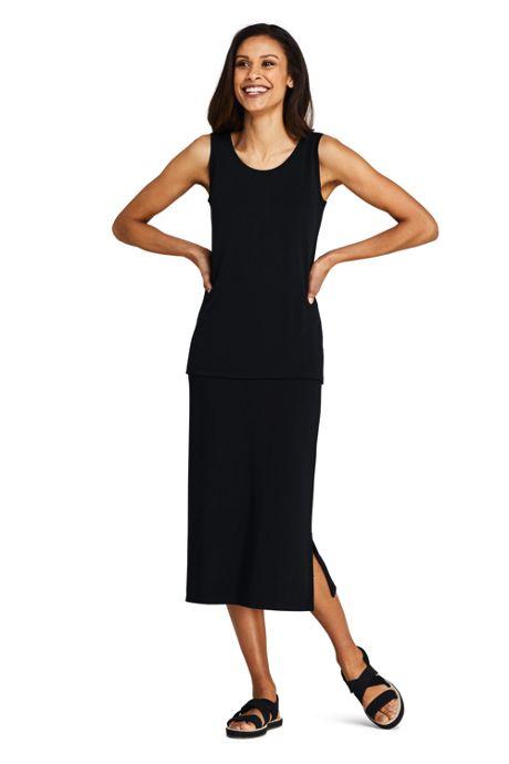 Women's Petite Matte Jersey Midi Skirt