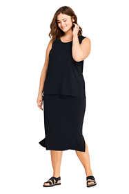 Women's Plus Size Matte Jersey Midi Skirt