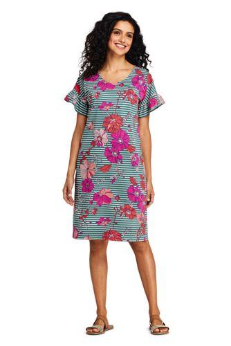 Ruffle Shirt Dress