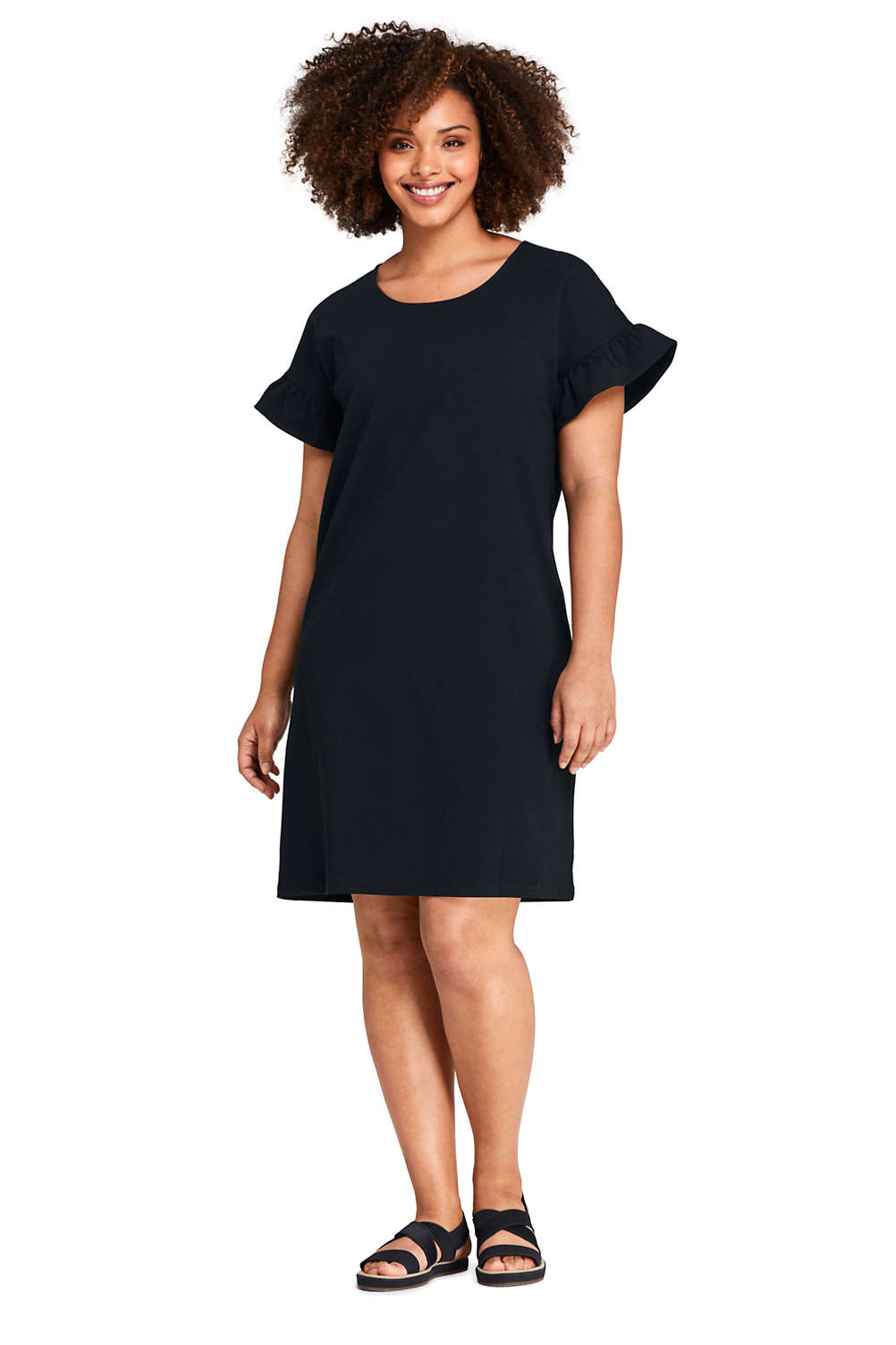 940dae19a32 Women s Plus Size Short Sleeve Ruffle Knit Tee Shirt Dress. Item   508339AH0. View Fullscreen