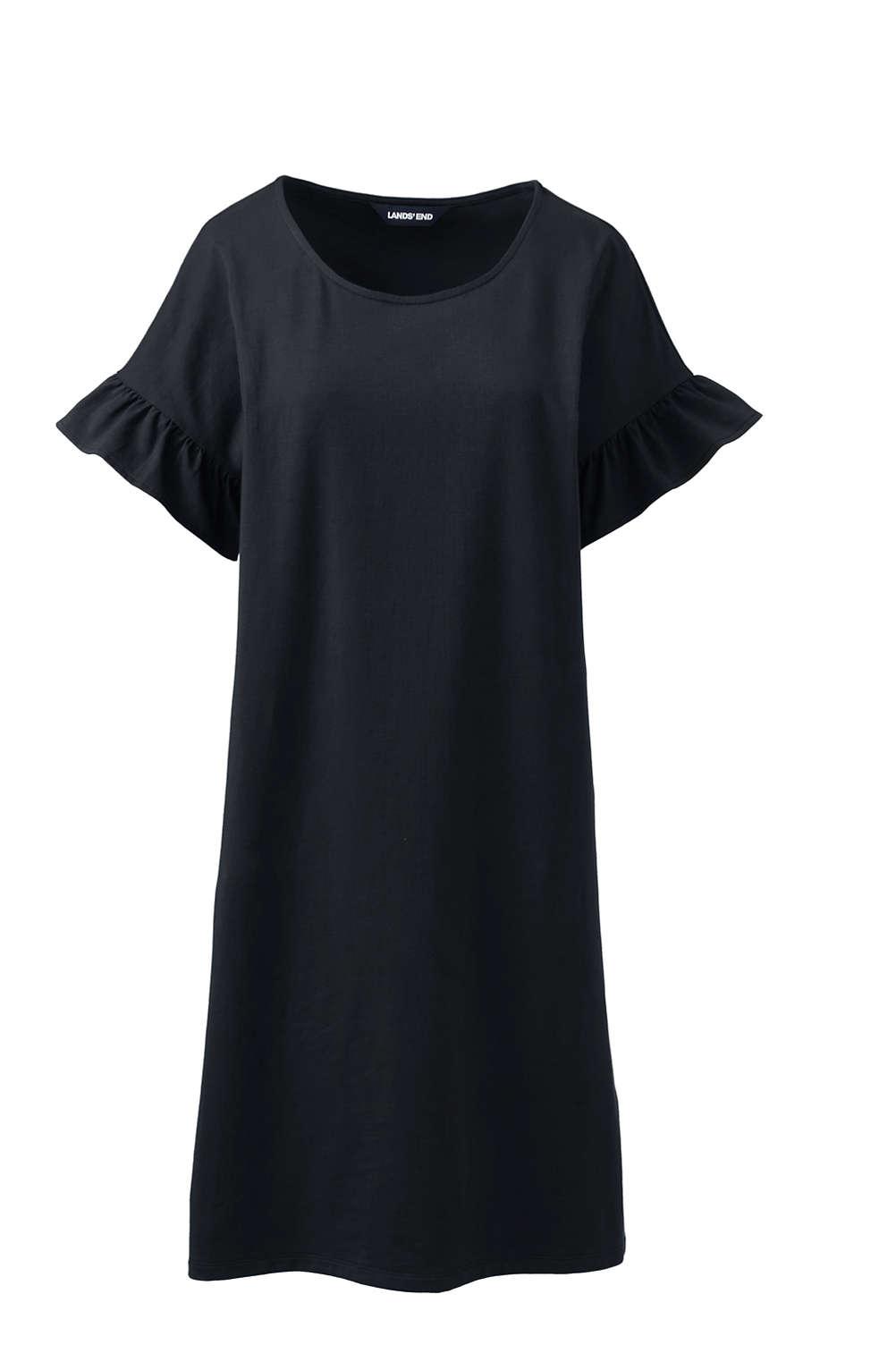 4c6388321f7 Women s Plus Size Short Sleeve Ruffle Knit Tee Shirt Dress from ...