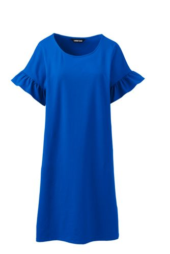 Women's Plus Fluted Sleeve T-shirt Dress