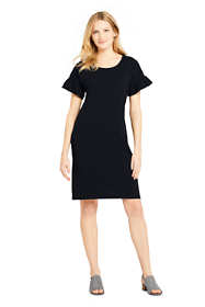 Women's Short Sleeve Ruffle Knit Tee Shirt Dress