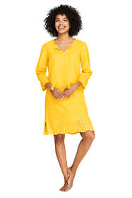 Women's Linen Eyelet Tunic Swim Cover-up