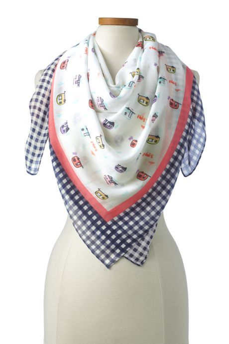 Women's Printed Square Scarf