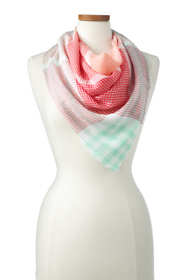 Women's Colorful Plaid Square Scarf