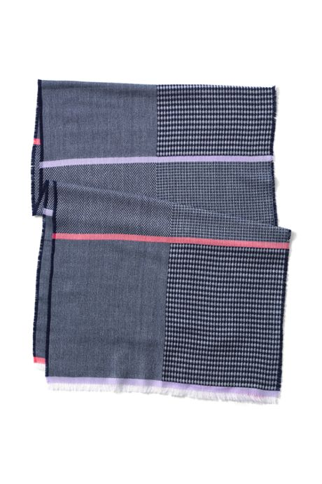Women's Textured Patchwork Scarf