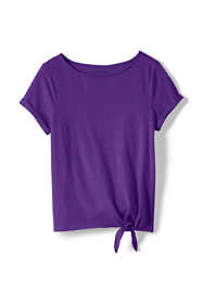 Toddler Girls Knot Front Slub Knit Top