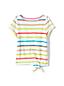 T-shirt en Coton Flammé à Motifs, Toute Petite Fille